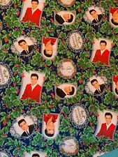Elvis Presley Merry Christmas Cotton Fabric - 1 yard Sewing Quilting Material