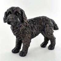 Bronze Effect Cockapoo Dog Sculpture Statue Ornament Statuette Gift