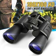 180x100 BAK4 Military Binoculars Day/Night Optics Hunting Camping High Power
