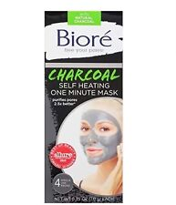 Biore Self Heating One Minute Mask 4 Count - NEW FREE SHIPPING