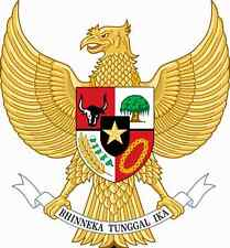 "Auto Aufkleber Wappen Indonesien ""Indonesia"" Coat of arms Car Sticker"