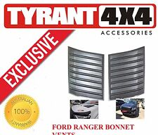 [TYRANT 4X4] Ford Ranger MK2 Black Bonnet Vents Engine Hood Scoop Cosmetic Cover