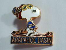 Snoopy Skiing Pin Vintage Peanuts Arapahoe Basin Ski Resort (Ski#275)*(**)