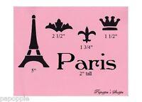 Stencil Fleur de Lis Paris Eiffel Tower Crown Chic