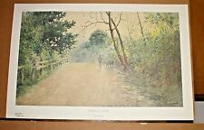 Journey Home Kentucky artist Paul Sawyier COA Frankfort Road Landscape Trees