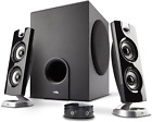 Cyber Acoustics CA-3602FFP 2.1 Speaker Sound System with Subwoofer and Control