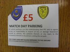 17/01/2015 Ticket: Portsmouth v Burton Albion [Match Day Parking] (corner trimme