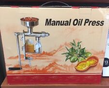 MANUAL OIL PRESS MACHINE OIL EXTRACTOR HAND PRESS STAINLESS STEEL FOOD GRADE