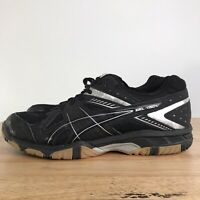 WOMENS ASICS GEL 1150V VOLLEYBALL SHOES BLACK SILVER B457Y SIZE 8.5