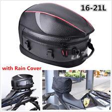 Motorcycle Tail Bag Motorbike Luggage Rear Seat Rider Bag Helmet Pack Waterproof