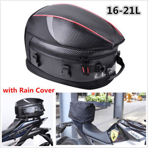 Motorcycle Tail Bag Motorbike Luggage Rear Seat Rider Bag Helmet Pack Waterproof