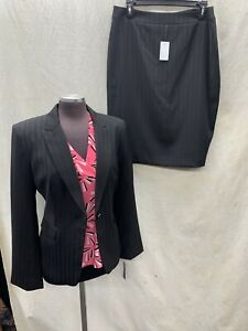 """JOHN MEYER SKIRT SUIT /RETAIL$240/SIZE 12/NEW WITH TAG/LINED/BLACK/SKIRT 25""""/"""