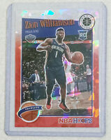 2019-20 Panini Hoops Zion Williamson Red Cracked Ice Tribute Rookie RC Card #296
