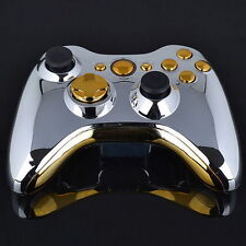 Set Full Shell Cover Case + Buttons for Xbox 360 Wireless Controller Silver O#