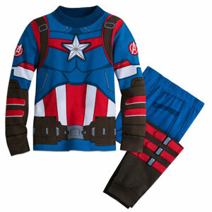 NWT DISNEY STORE Avengers Captain America Boys Pajama Set PAL Costume