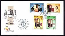 Malta 1997 Sedan Chairs First Day Cover FDC SG 1042 - 1045 Not Addressed