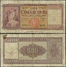 500 Lire Italia ornata di spighe 23/3/1961 Carli - Ripa
