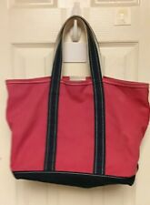VINTAGE L.L. BEAN BOAT & TOTE BAG RED NAVY BLUE *NICE CONDITION*