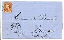 NEDERLAND 1870  LETTER   WITH # 9  TO SWITZERLAND   ALMOST  VF