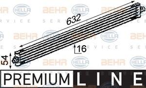 Hella Engine Oil Cooler 8MO 376 722-311 fits Mercedes-Benz Vito 109 CDI (W639...