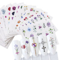 3D Nail Art Transfer Stickers Flower Decals Manicure Decoration Tips 24 Sheets