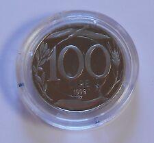 100 LIRE 1999 ITALIA TURRITA 2° TIPO PROOF IN CAPSULA - MONETA NON COMUNE -