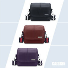 PU Leather DSLR Digital Camera Case Shoulder Bag For Canon NIKON SONY Panasonic