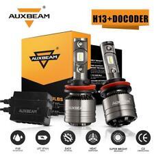 2X AUXBEAM H13 9008 High Low Beam 6500K White LED Headlight Bulbs 8000LM 70W KIT