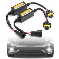 2pcs H11 LED Headlight Canbus Anti Flicker Error Free Resistor Canceller Decoder