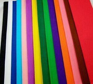 W36ASS 15 COLOURS Crepe Paper Folds, each 150cm x 50cm by clikkabox