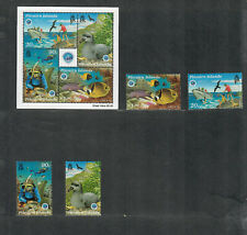 Pitcairn Islands Sc#492-495a M/NH/VF, Fish, Cv. $29.65