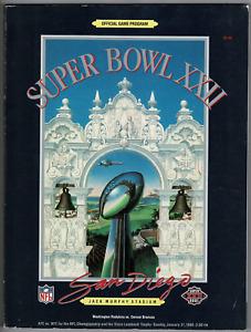 Official NFL Super Bowl XXII program! Washington Redskins vs Denver Broncos!