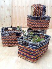 Colourful African Handwoven Rectangular Storage Basket | Fairtrade Hamper