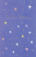 Stars On Purple Background Birthday Card - Greeting Card by Freedom Greetings