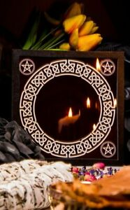 Black Glass Scrying Mirror Divination Fortune Telling Witchcraft Occult Magic