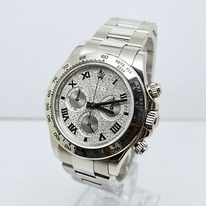 Rolex Daytona 116509 Factory Pave Diamond Set Dial Box and Papers Full Set