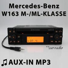 Mercedes Audio 10 CD MF2910 AUX-IN Klinke MP3 W163 Radio M ML Klasse CD-R 1-DIN