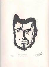 Pierre Demarne. Autoportrait 1952. Mourlot. Lithographie. Surréalisme