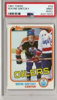 1981 81-82 Topps Hockey #16 Wayne Gretzky Oilers Kings HOF  PSA 9 Mint (OC)