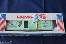 1974 Lionel 6-7603 State of New Jersey Spirit of '76 Commem Box Car L2973