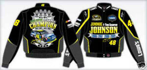 Jimmie Johnson Nacscar Jacket 4 Time Champion Lowe's Black Twill BLOWOUT SALE