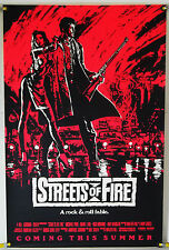 STREETS OF FIRE ROLLED ADV ORIG 1SH MOVIE POSTER MICHAEL PARE, DIANE LANE (1984)
