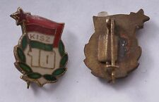 Hungary Hungarian Badge Pin 10 Year KISZ member Youth Communist Medal Soviet