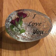 I LOVE YOU  (HAND MADE WITH REAL ROSES)