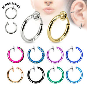 Non Piercing Jewelry Fit for Nose, Lip, Ear, Cartilage Good for Everybody