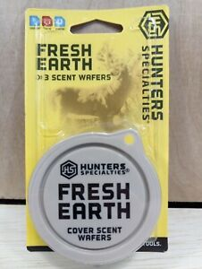 """One 3 pack New in Package Hunter's Specialties """"Fresh Earth"""" Cover scent wafers"""