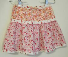 Gap Kids size M (8) 100% cotton skirt pink florals two tiers lined