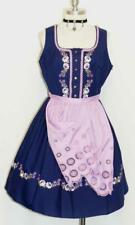 BLUE DIRNDL Women Trachten Waitress OKTOBERFEST Swing Party DRESS + APRON / 8 S