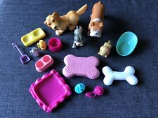 Barbie Plastic Animals Dollhouse Barbie Kelly Doll Pet Figures Toy Lot
