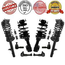 Front & Rear Complete Strut & Spring Assembly Quick + Chassi Steering 6pc Kit
